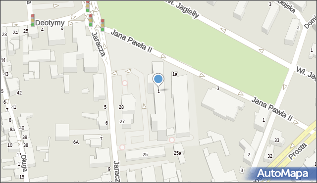 Słupsk, Jana Pawła II, 1, mapa Słupska