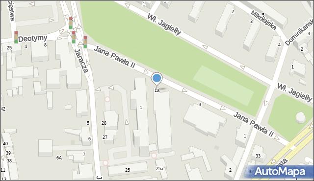 Słupsk, Jana Pawła II, 1a, mapa Słupska