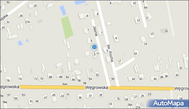 Sokołów Podlaski, Jasna, 2, mapa Sokołów Podlaski