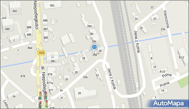 Sopot, Jana z Kolna, 26a, mapa Sopotu