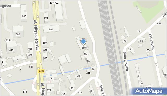 Sopot, Jana z Kolna, 26d, mapa Sopotu