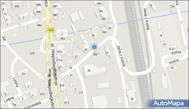 Sopot, Jana z Kolna, 33a, mapa Sopotu