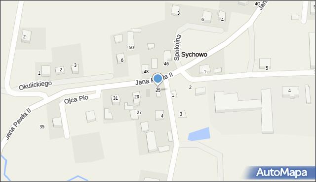 Sychowo, Jana Pawła II, 25, mapa Sychowo
