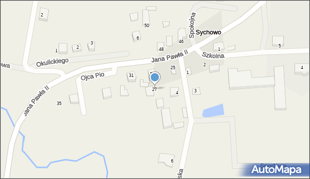 Sychowo, Jana Pawła II, 27, mapa Sychowo