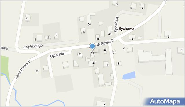 Sychowo, Jana Pawła II, 29, mapa Sychowo