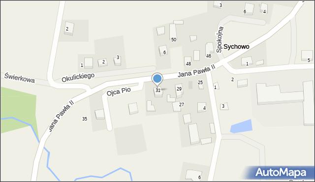 Sychowo, Jana Pawła II, 31, mapa Sychowo