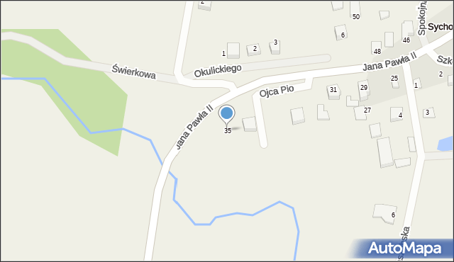 Sychowo, Jana Pawła II, 35, mapa Sychowo