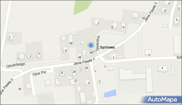 Sychowo, Jana Pawła II, 46, mapa Sychowo