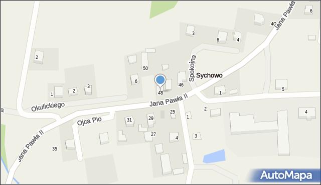 Sychowo, Jana Pawła II, 48, mapa Sychowo