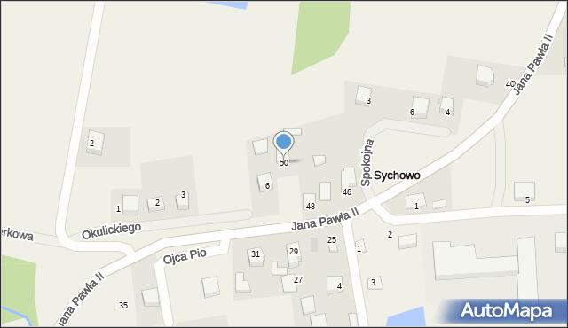Sychowo, Jana Pawła II, 50, mapa Sychowo