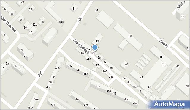 Tczew, Jasińskiego Jakuba, 2c, mapa Tczew