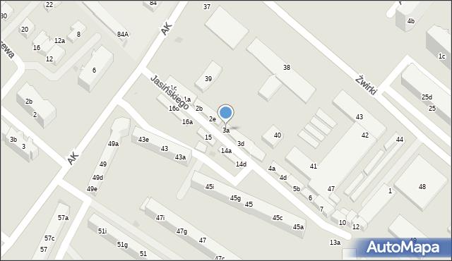 Tczew, Jasińskiego Jakuba, 3a, mapa Tczew