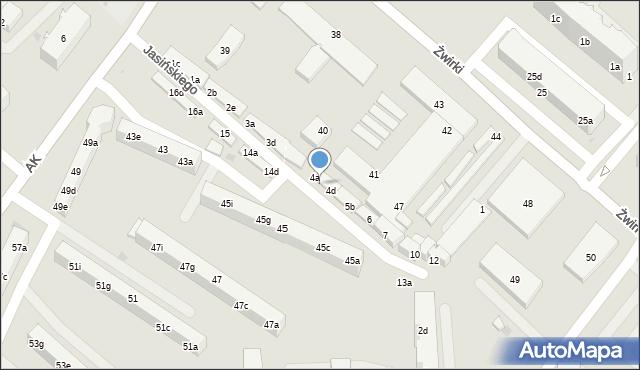 Tczew, Jasińskiego Jakuba, 4b, mapa Tczew