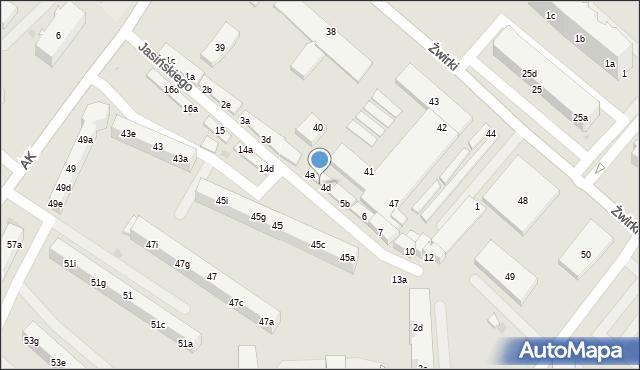 Tczew, Jasińskiego Jakuba, 4c, mapa Tczew
