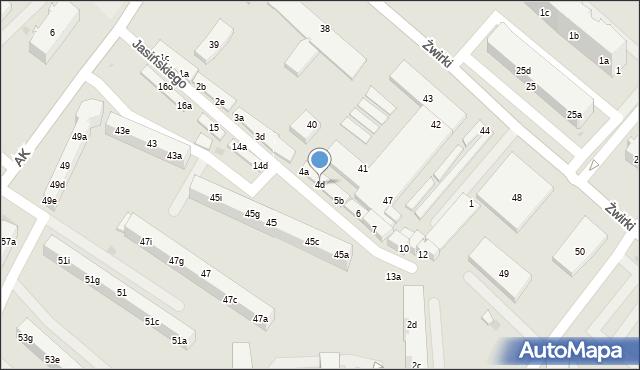 Tczew, Jasińskiego Jakuba, 4d, mapa Tczew