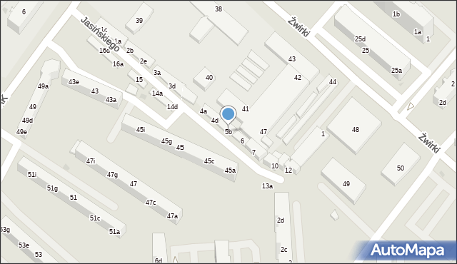 Tczew, Jasińskiego Jakuba, 5b, mapa Tczew