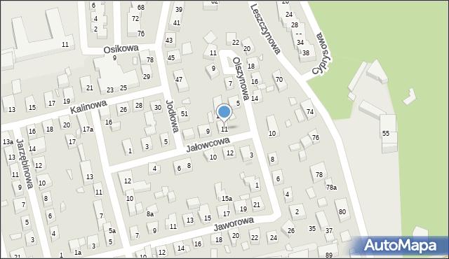 Toruń, Jałowcowa, 11, mapa Torunia