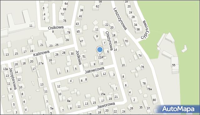 Toruń, Jałowcowa, 11A, mapa Torunia