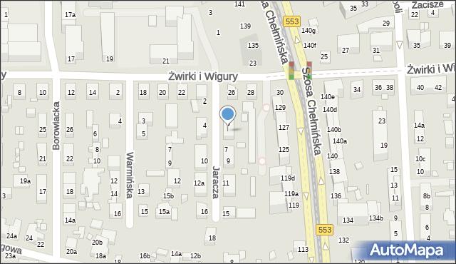 Toruń, Jaracza Stefana, 5, mapa Torunia