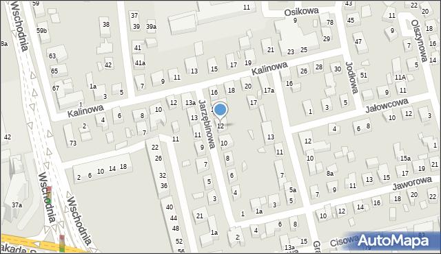 Toruń, Jarzębinowa, 12, mapa Torunia