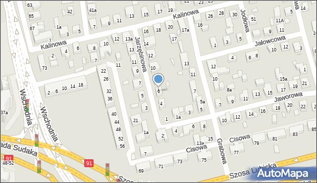 Toruń, Jarzębinowa, 6, mapa Torunia