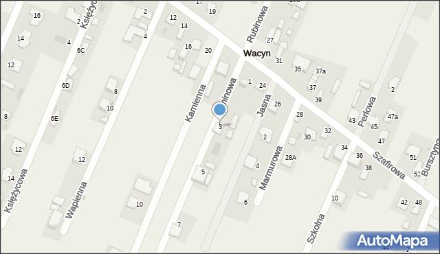 Wacyn, Jaśminowa, 3, mapa Wacyn
