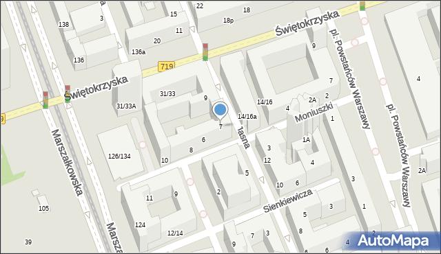Warszawa, Jasna, 7, mapa Warszawy