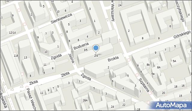 Warszawa, Jasna, 2/4, mapa Warszawy