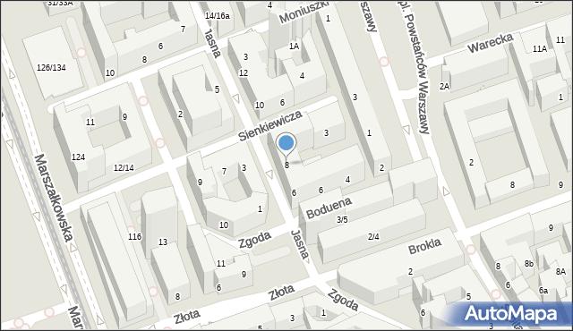 Warszawa, Jasna, 8, mapa Warszawy