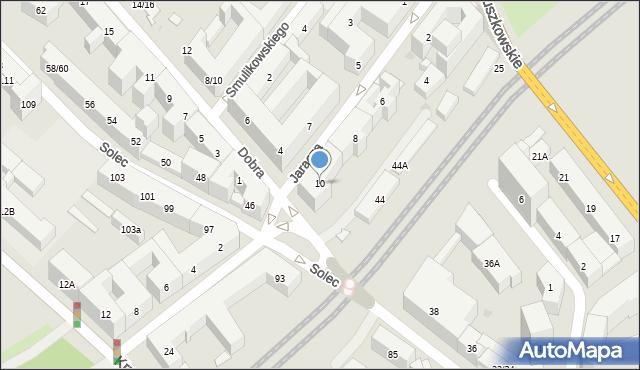 Warszawa, Jaracza Stefana, 10, mapa Warszawy
