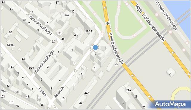 Warszawa, Jaracza Stefana, 2, mapa Warszawy