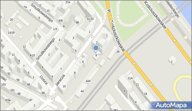 Warszawa, Jaracza Stefana, 4, mapa Warszawy