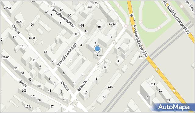 Warszawa, Jaracza Stefana, 5, mapa Warszawy