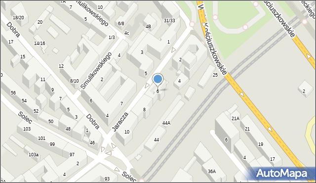 Warszawa, Jaracza Stefana, 6, mapa Warszawy