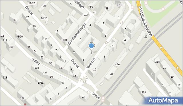 Warszawa, Jaracza Stefana, 7, mapa Warszawy