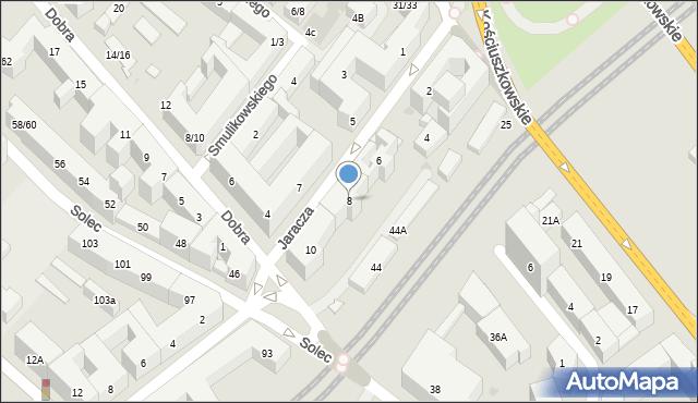 Warszawa, Jaracza Stefana, 8, mapa Warszawy