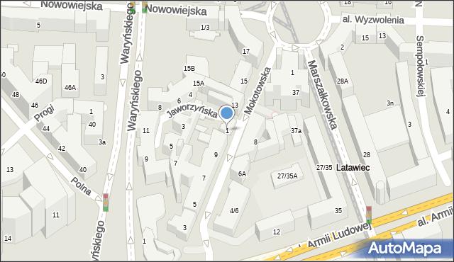Warszawa, Jaworzyńska, 1, mapa Warszawy