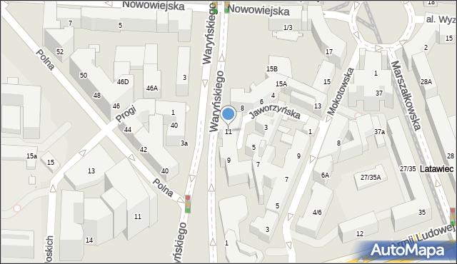 Warszawa, Jaworzyńska, 11, mapa Warszawy