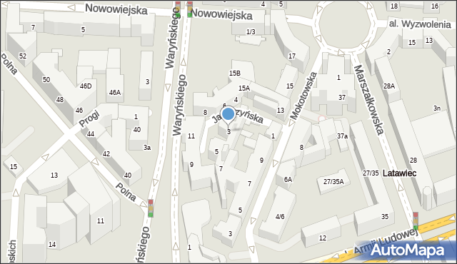 Warszawa, Jaworzyńska, 3, mapa Warszawy
