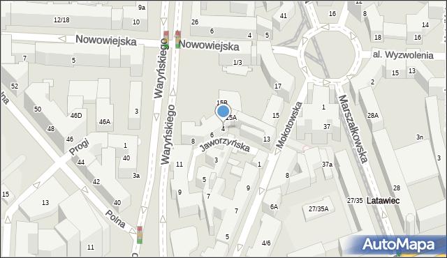 Warszawa, Jaworzyńska, 4, mapa Warszawy