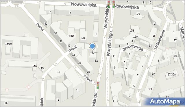 Warszawa, Jaworzyńska, 40, mapa Warszawy