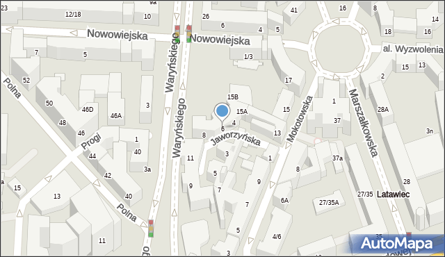 Warszawa, Jaworzyńska, 6, mapa Warszawy