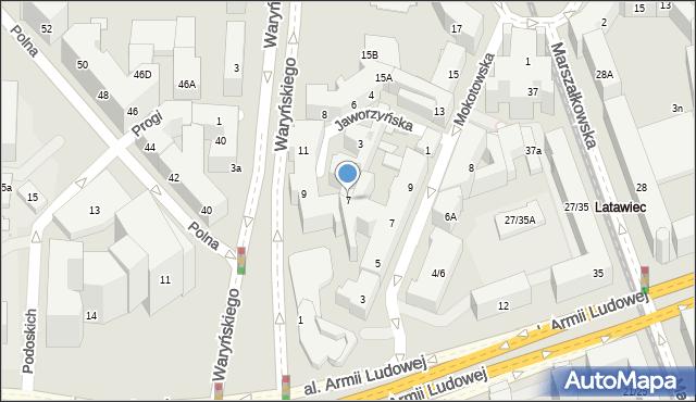 Warszawa, Jaworzyńska, 7, mapa Warszawy