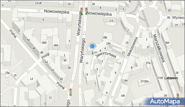 Warszawa, Jaworzyńska, 8, mapa Warszawy