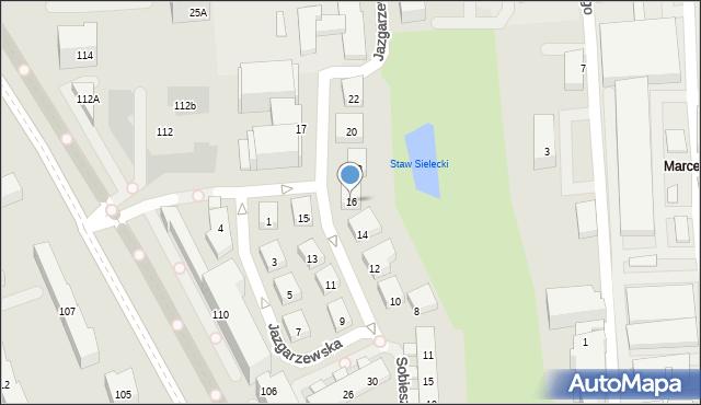 Warszawa, Jazgarzewska, 16, mapa Warszawy