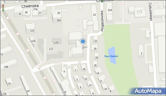 Warszawa, Jazgarzewska, 17, mapa Warszawy