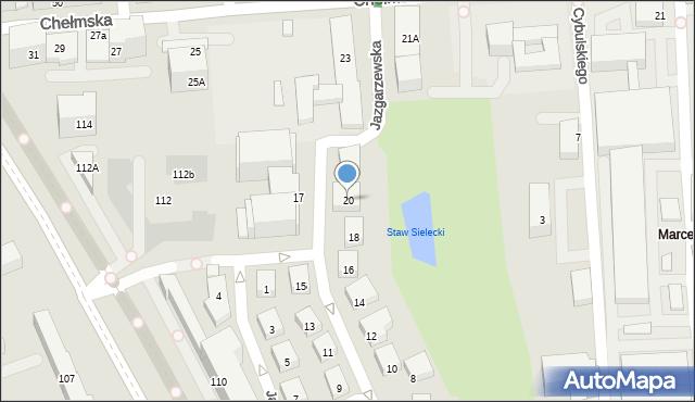 Warszawa, Jazgarzewska, 20, mapa Warszawy