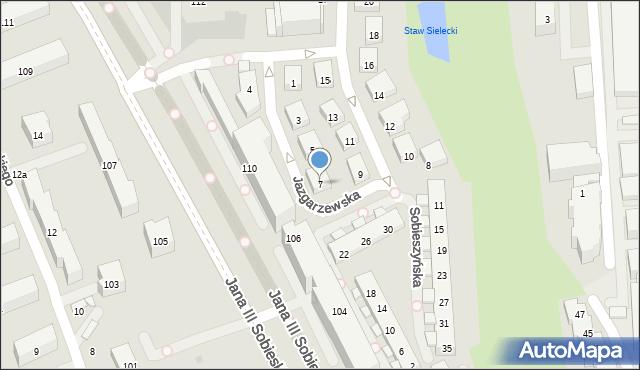 Warszawa, Jazgarzewska, 7, mapa Warszawy