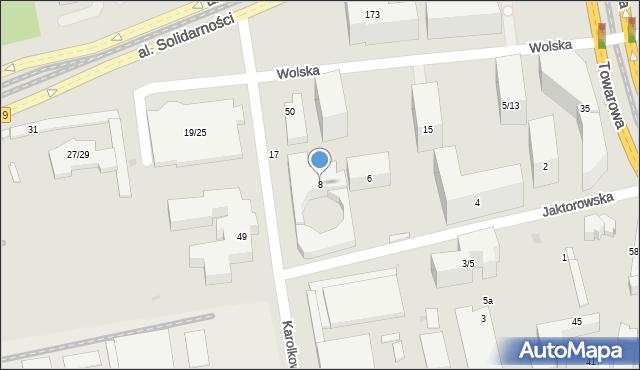 Warszawa, Jaktorowska, 8, mapa Warszawy