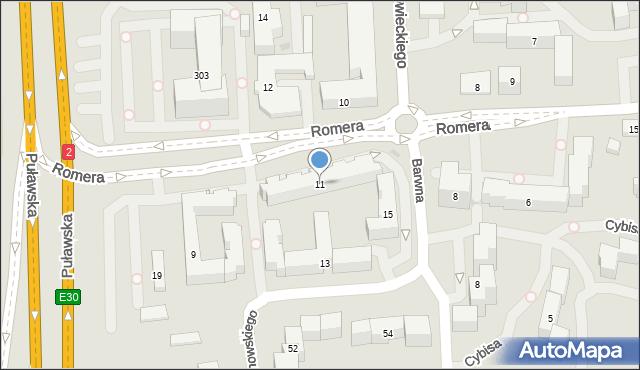 Warszawa, Janowskiego Aleksandra, 11, mapa Warszawy
